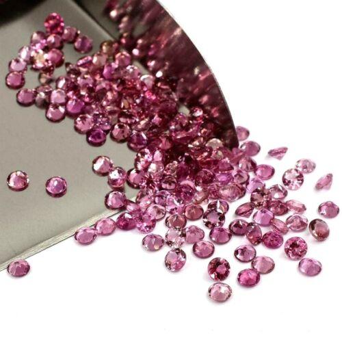 Wholesale Lot 3mm Round Facet Natural Pink Tourmaline Loose Calibrated Gemstone