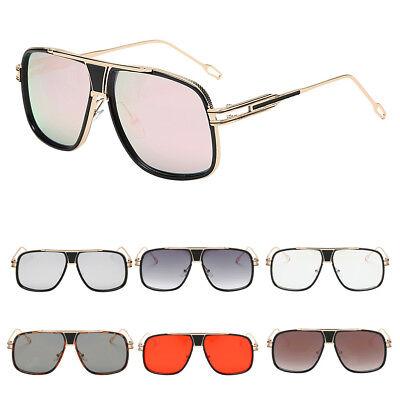 Big Face Oversized Eyewear Womens Men Square Vintage Retro Sunglasses
