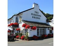Bar & Waiting Staff - The Floating Bridge, Dartmouth. Accommodation included.