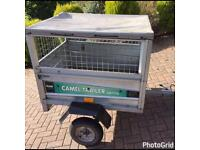 Camel galvanised tipping trailer + mesh sides/cover