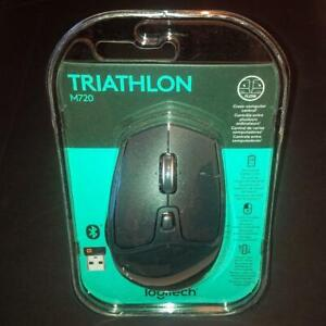 Logitech M720 Triathlon Wireless Mouse Bluetooth & USB – New