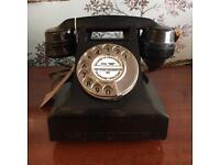 Black Bakelite Telephone - wonderful dial and ring!