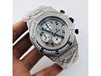 Brand new AP Audemars Piguet 15400 iced diamond black silver gold Cartier Rolex hublot automatic RM