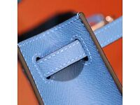 hermes blue hand bag