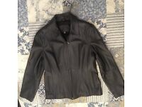Ladies beautiful black leather jacket- Marks & Spencer