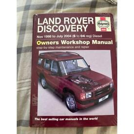 Land Rover discovery 2 owners workshop manual Haynes