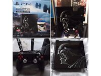 Sony Playstation 4 1TB Console Star Wars Limited Edition & Darth Vader Controller & Game