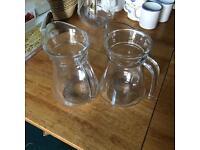 x2 glass jugs.