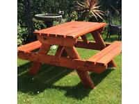 Pub style solid bench