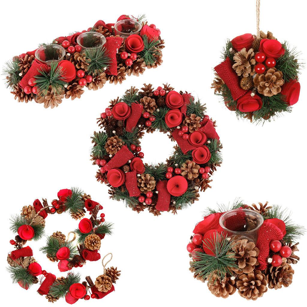 125 cm Artificial Christmas Red Winter Rose Garland Mantelpiece Decoration
