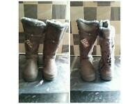 Womens hard sole boots
