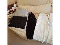 Job lot, bundle of Men's clothes, medium/large sizes, tops, shirts, coat, jacket. Smoke free home