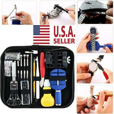 147pc Watch Repair Kit Watchmaker Back Case Opener Link Remover Pin Spring Bar