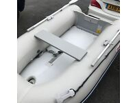 SunSport Inflatable Boat AIB265K Air Deck Floor - Wheels & Davit Attachments