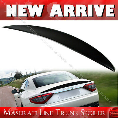 For Maserati Gran Turismo MC GT S Rear Trunk Spoiler 08-14 Unpainted