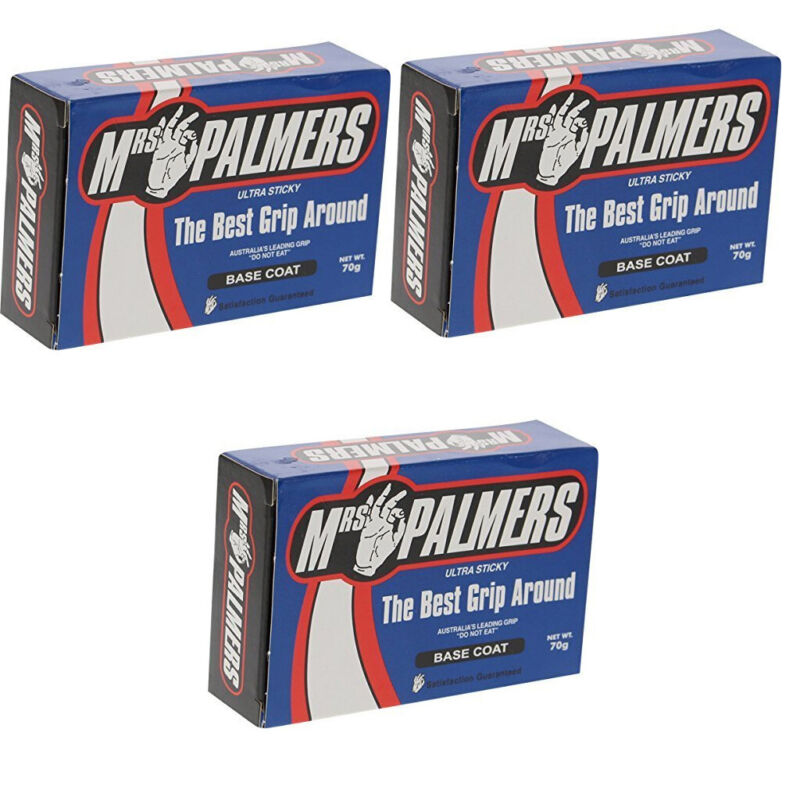 Mrs Palmers Surfboard Wax Basecoat 3-Pack