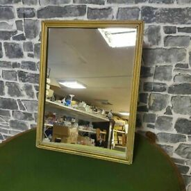 Table Top Gold Frame Mirror