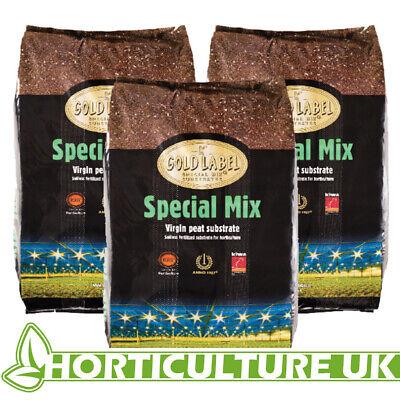 Gold Label Special Mix 50 Litres Virgin Peat Fertliser Soil *** 3 BAGS ***