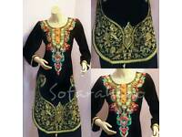 New Fully Stitched Dress Suit Shalwar Kameez Asian Clothe Embroidered Size M,L