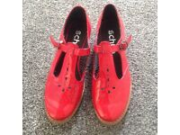 Ladies Red patent leather size 4 shoes from Schuh
