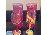 Lolita Designer Wine glasses pair