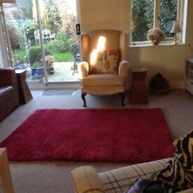 Deep reg rug. Good quality 170 X 120
