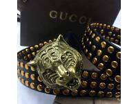 Studded mens statement leather belt rare versace boxed complete luxury