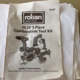Rolson 19.2v combination tool kit 70907 new in box