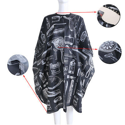 Black Hairdressing Gown Cape Hair Cut Salon Barber Nylon Cloth Wrap Protect Tool for sale  Shipping to Canada