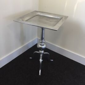 Side table (pewter?)