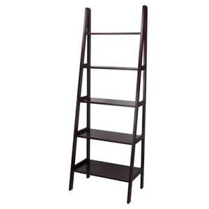 NEW Casual Home 5 Shelf Ladder Bookcase, Espresso
