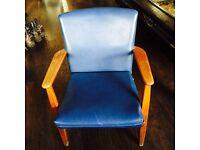 Amazing retro blue Parker knoll arm chair