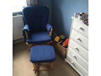 dutailier nursing chair - blue