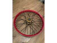 """21""""and 19"""" wheels off a crf 250 2014"""