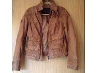 Superdry leather biker jacket