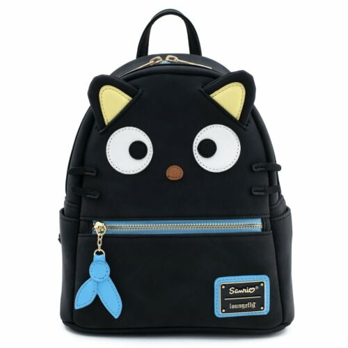 $ New LOUNGEFLY SANRIO School Bag Backpack CHOCOCAT Black Cat Hello Kitty 3D