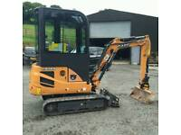 Case CX18B Cabbed Mini Digger 329 Hours 2015