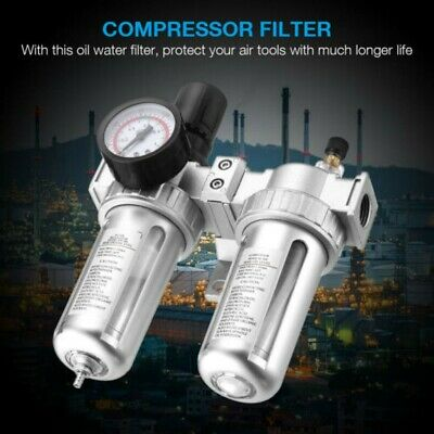 G12 Air Compressor Filter Oil Water Separator Trap Tools Regulator Gauge Us