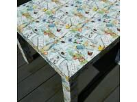 Upcycled Beatrix Potter Peter Rabbit Bedside Nursery Playroom Table Desk
