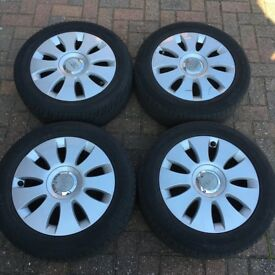 "Audi A3 Genuine Audi alloy wheels 17 inch set of 4 alloys 17"" 5 stud 112 fitment alloys and tyres"