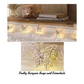 10 LED Butterfly Lights