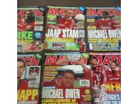 soccer stars,motd and match magazines/books