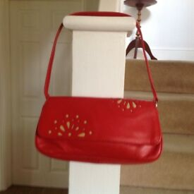 Radley red leather purse/ bag