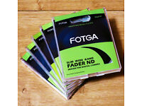 4 x Fotga Slim Nuetral Density ND Fader Lens Filters (New)