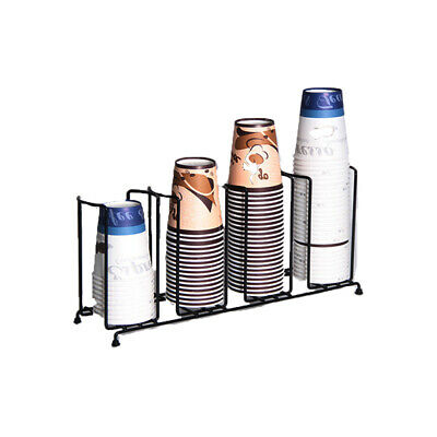 Countertop Paper Water Coffee Cuplid Holder Dispenser Stand Dispensing Rack