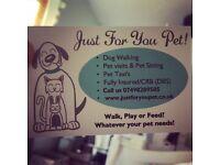 Dog Walking, Pet Sitting, Pet Care. Cover areas of Warwickshire