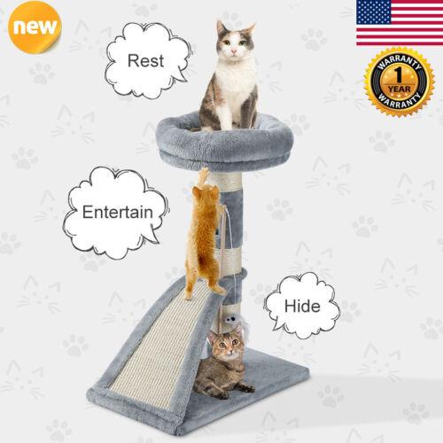 "26"" Cat Tree Tower Condo Furniture Sisal Scratch Pad Post"