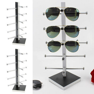 2pcs Wooden Sunglasses Display Stand Eyewear Storage Rack Retail (Wholesale Sunglass Display)