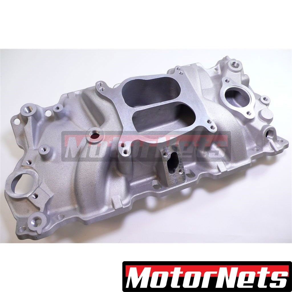 Details about Small Block Chevy 327 350 400 V8 Aluminum Dual Plane Manifold  Intake SBC Non-EGR