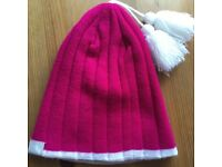 Girls trespass fuchsia pink ski hat